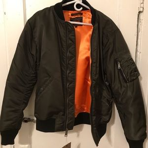 BRAND NEW SCHOTT NYLON FLIGHT JACKET - NEVER WORN!